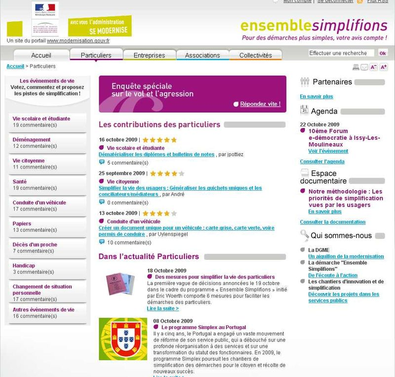 Ensemble simplifions