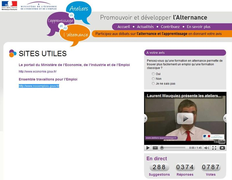 Sites utiles atelier apprentissage